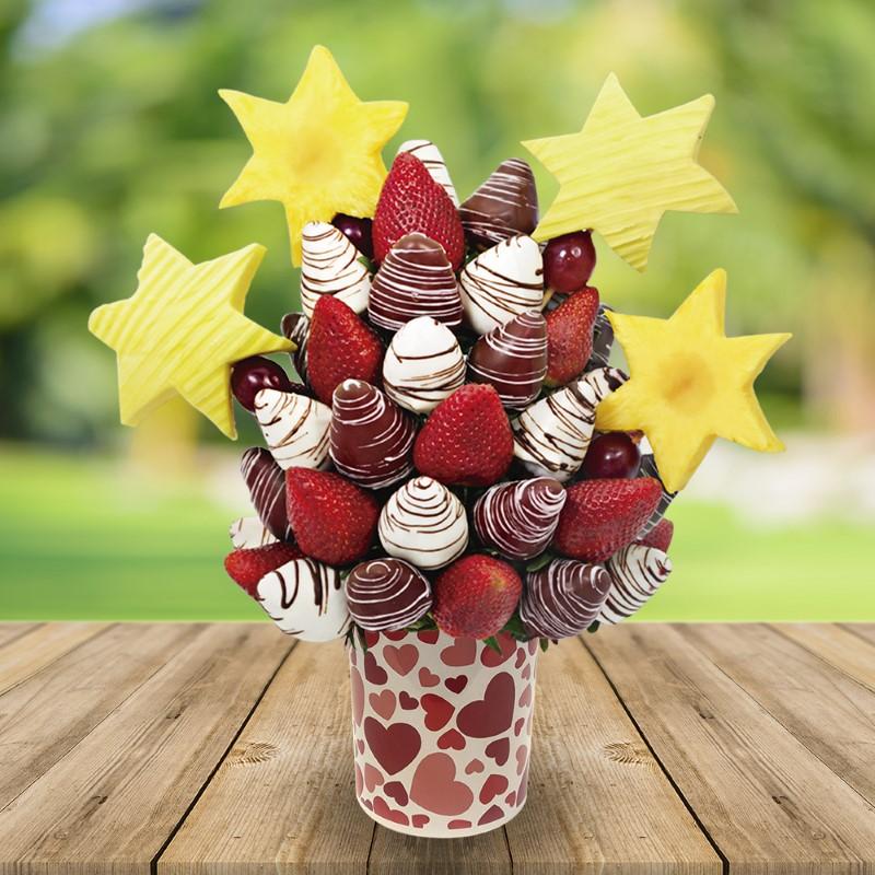Mug estrellas y fresas 14